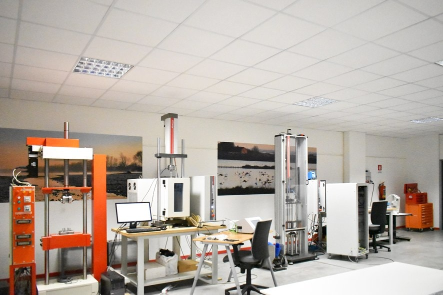 Laboratorio dove si eseguono i test di materiali