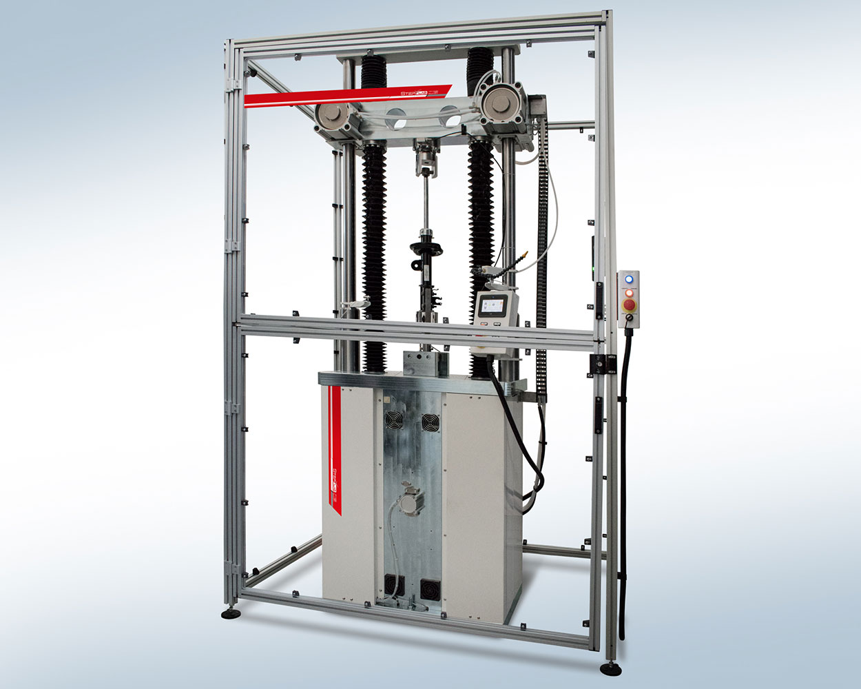 Damper test system for high dynamic applications